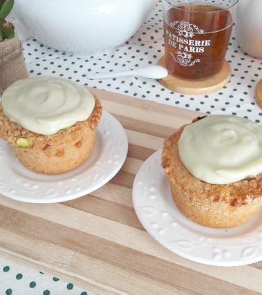 Muffins al pistacchio e crema di pistacchi