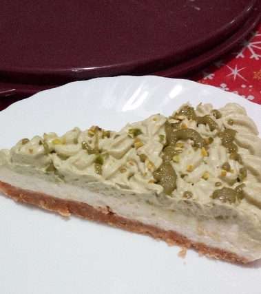 Cheesecake pistacchio cioccolato bianco