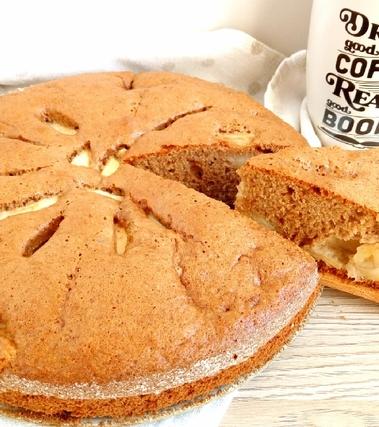 Torta di mele con farina di farro e di castagne