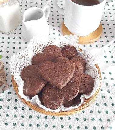 Biscotti frollini al cacao
