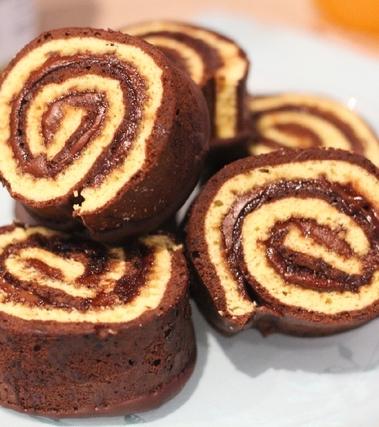 Le girelle vaniglia e cioccolato