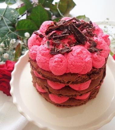 Torta con crema chantilly