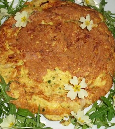 Frittata con uova di anatra ed emmental