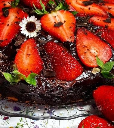 Torta matta cioccofragolona