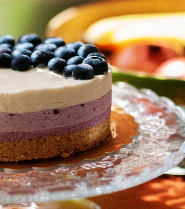 Ombre cheesecake ai mirtilli