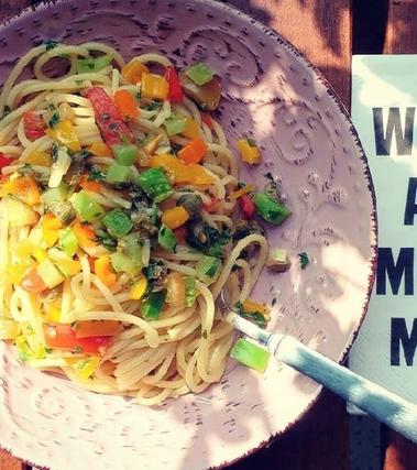 Spaghetti dell'orto vegan glutenfree