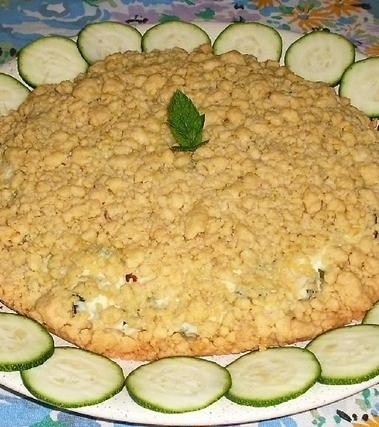 Sbriciolata salata con ricotta e zucchine