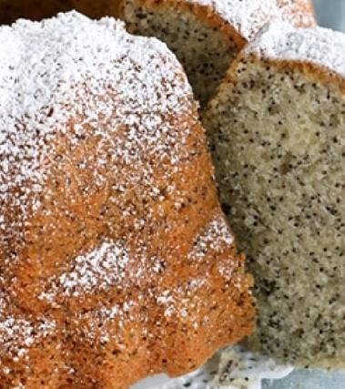 Torta di arancia e semi di papavero