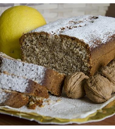 Plumcake di farina integrale miele e noci