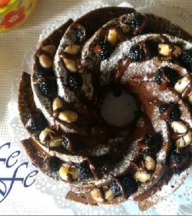 Bundtcake con banane, gelsi e cioccolato