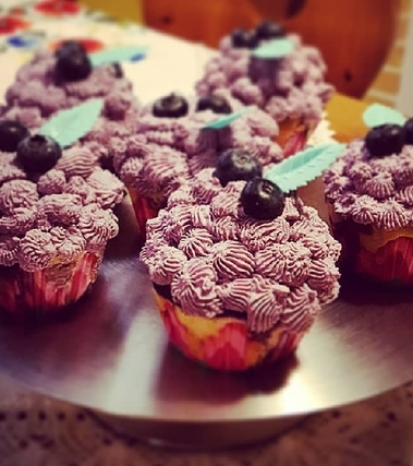 Cupcakes allo yogurt e mirtilli
