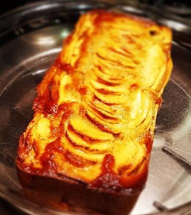 Plumcake rustico alle mele, noci e banane