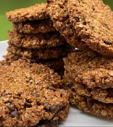 Biscotti avena integrale con gocce di cioccolato