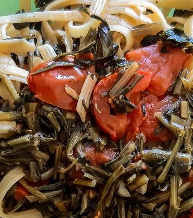 Pasta con cicoria e pomodorini light
