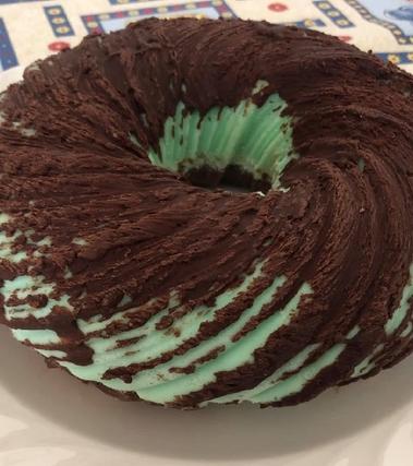 Bavarese moderna menta e cioccolato - torta tifone