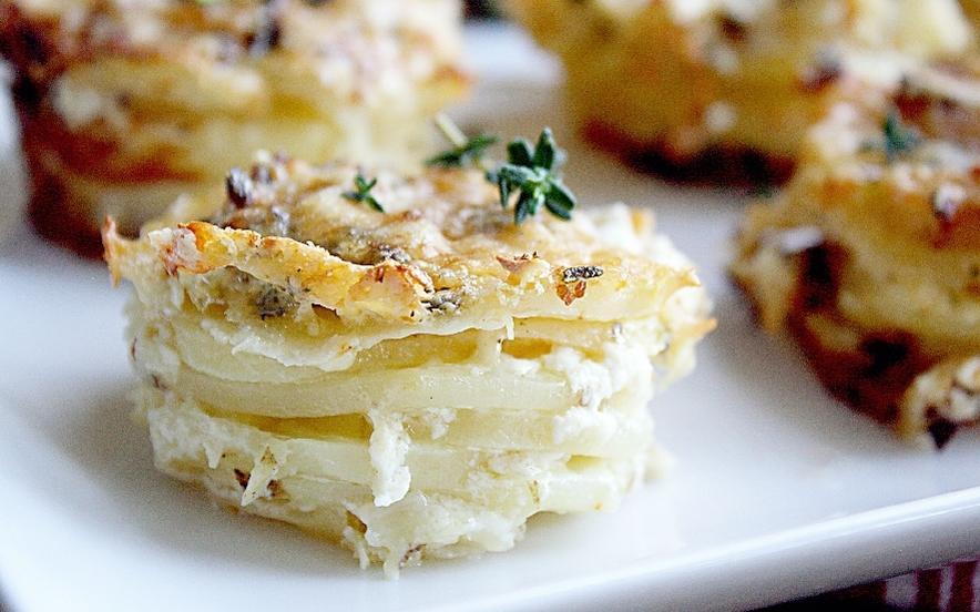 Tortino di patate al parmigiano
