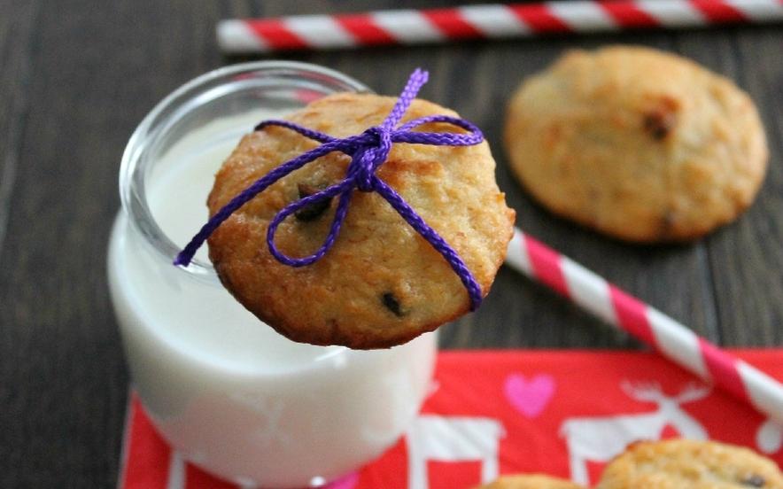 Biscotti ricotta, banane, cocco e cioccolato