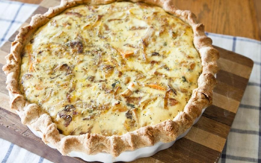 Quiche di patate e gorgonzola