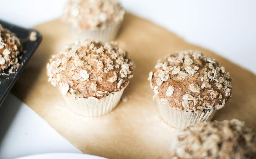 Muffin con avena e banana