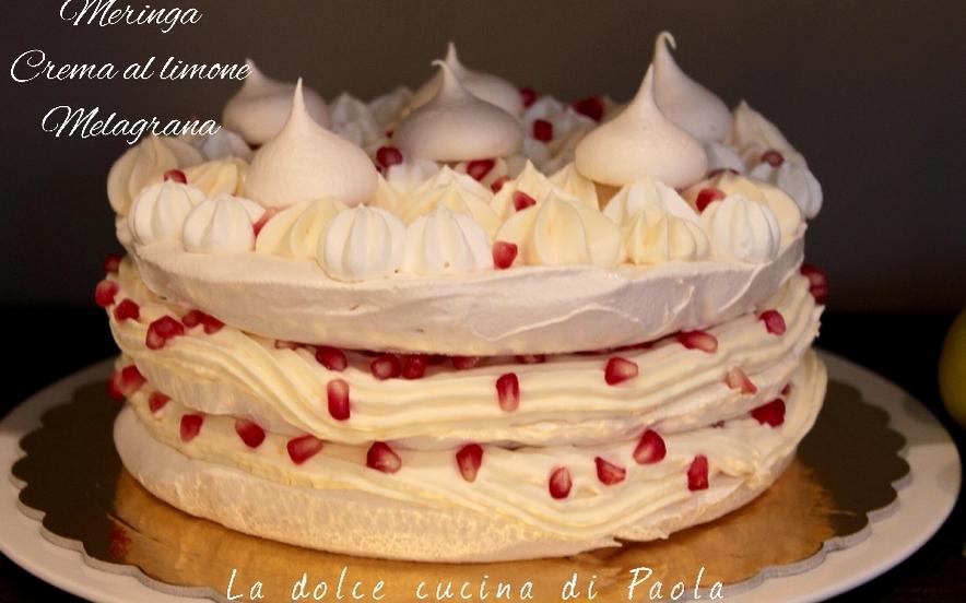 Torta meringata con crema al limone