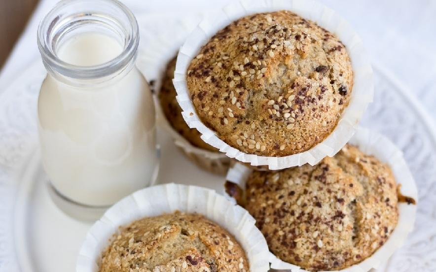 Muffin banana e sesamo vegan