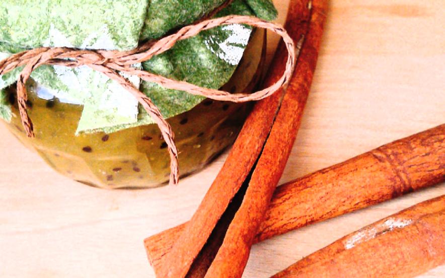 Confettura di kiwi e cannella