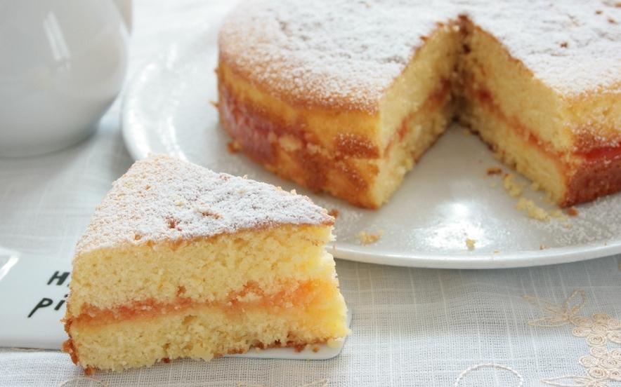 Torta soffice con cuore d'arancia