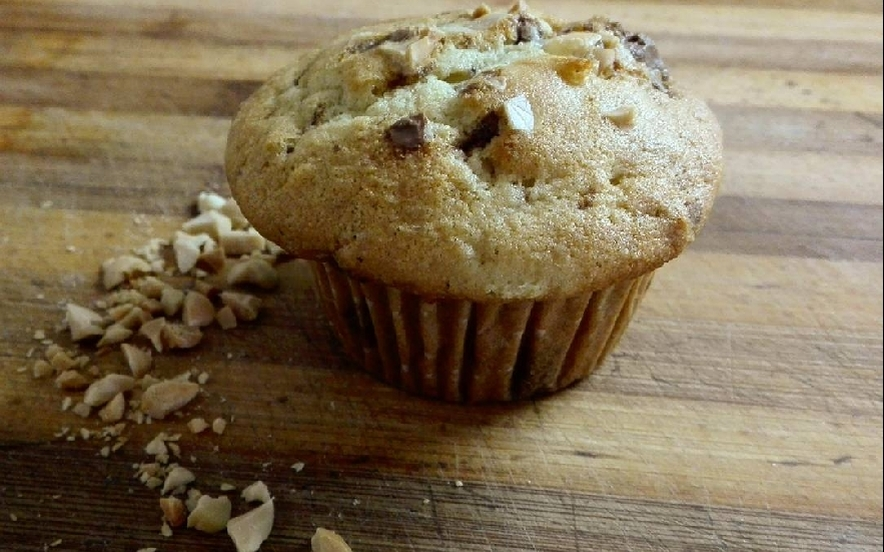 Muffin cioccolato e arachidi