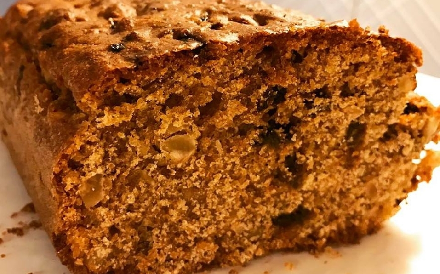 Plumcake integrale con nocciole e prugne secche