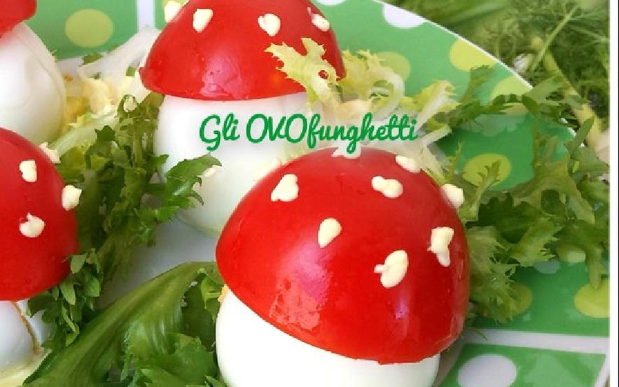 Gli ovofunghetti, uova ripiene