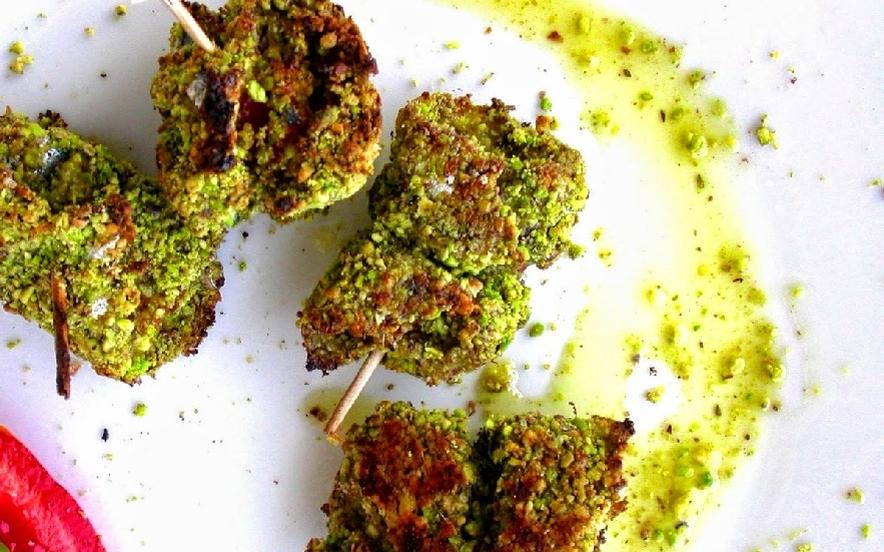 Bocconcini di alici al verde pistacchio