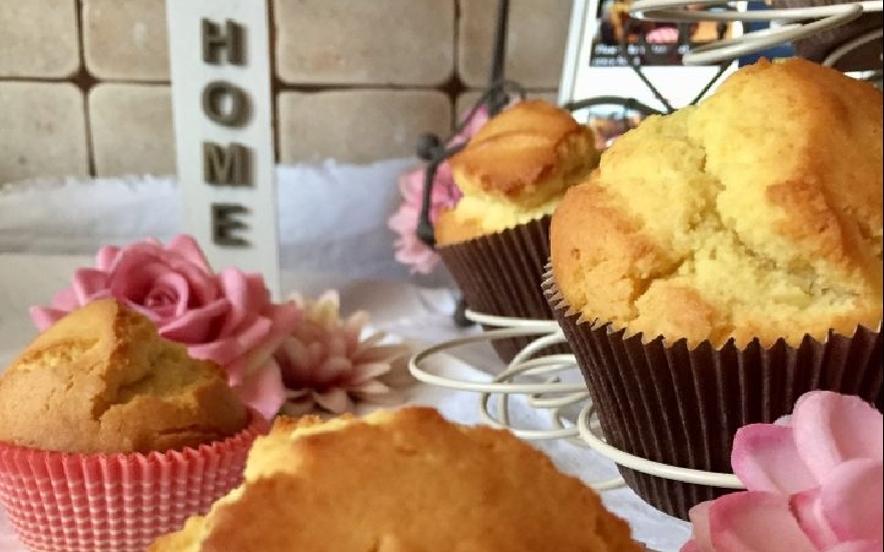 Muffins con farina di riso al profumo d'arancia