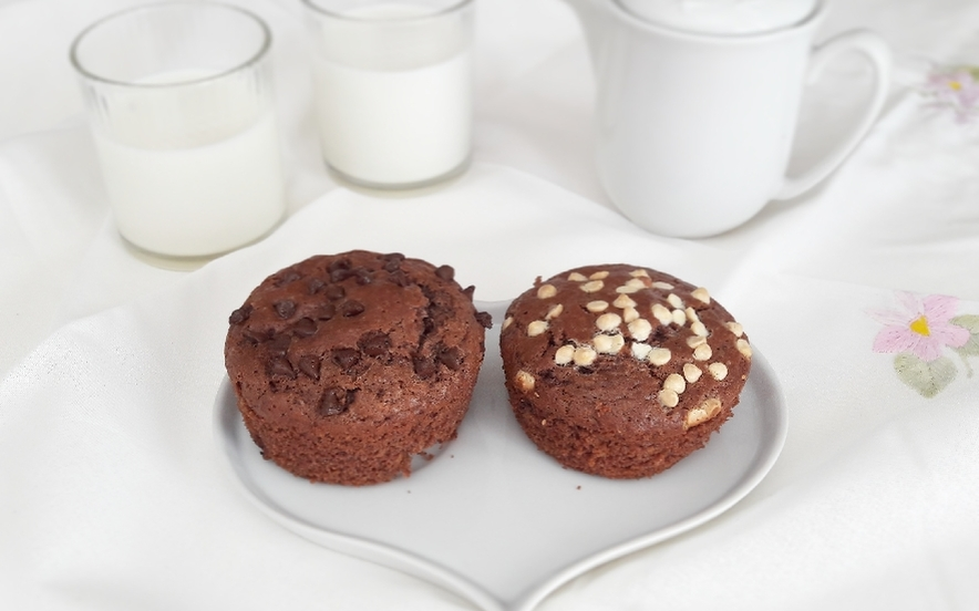 Muffins triple chocolate e black white