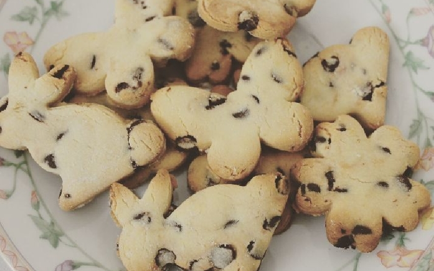Biscotti con farina di riso e gocce di cioccolato
