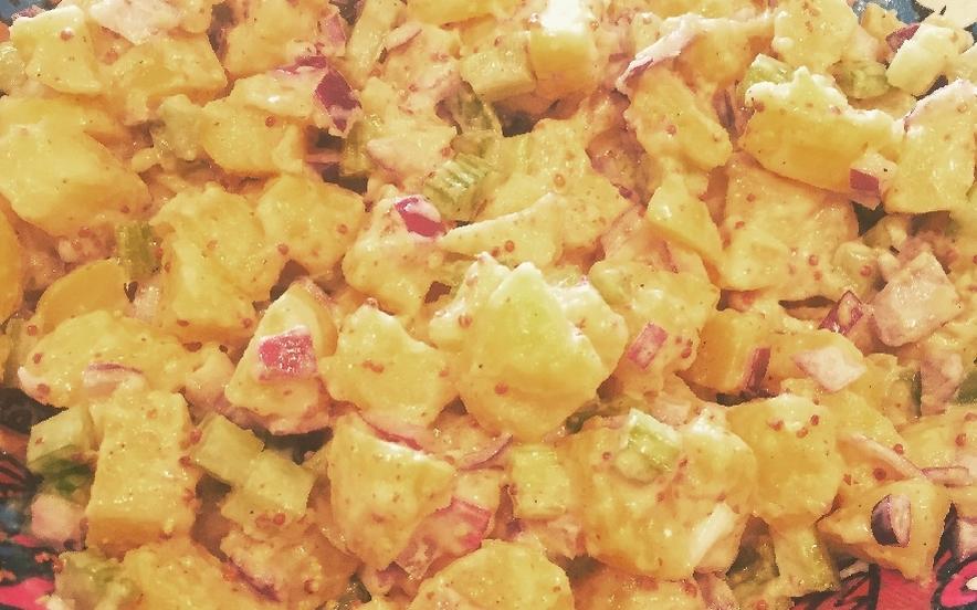 Insalata di patate vegana