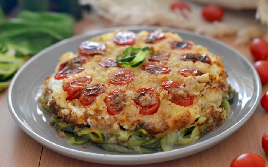 Sformato di zucchine al forno con ricotta