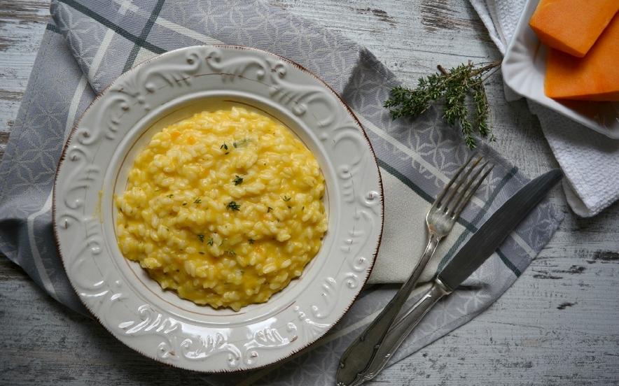 Risotto zucca gorgonzola e burro salato
