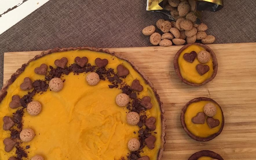 Frolla al cacao e crema alla zucca