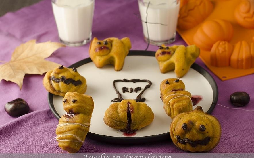 Muffin di zucca con marmellata di lamponi