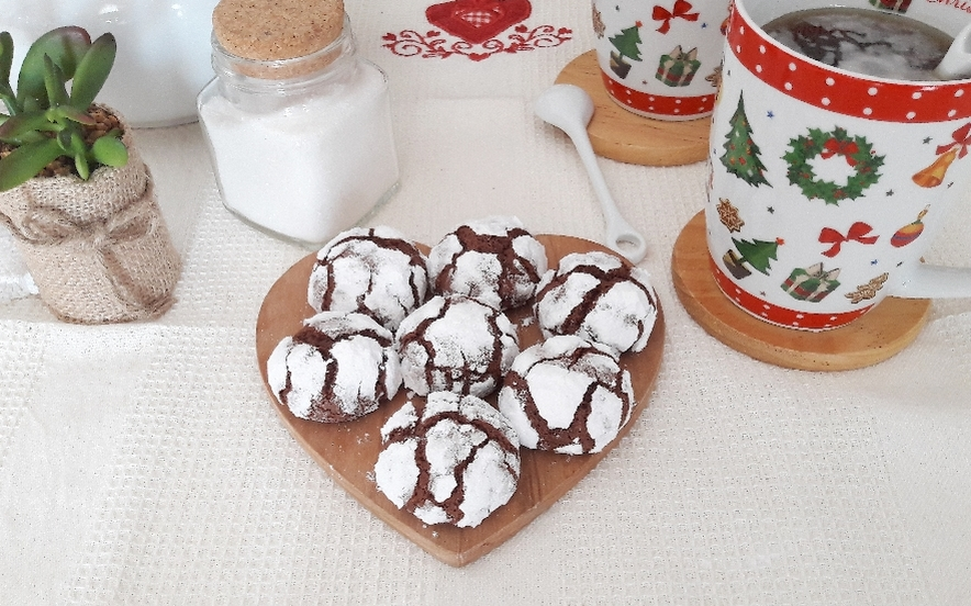 Crinkle chocolate cookies