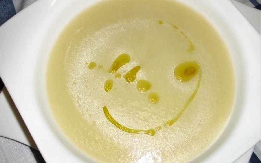 Crema di tenerumi e patate cuko