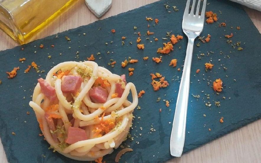 Pici agrumati al lime e arancia