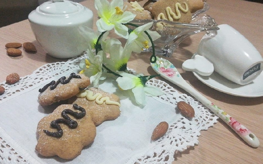 Biscotti al latte di mandorla e caffè