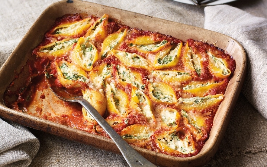 Conchiglioni ripieni di ricotta e spinaci al forno