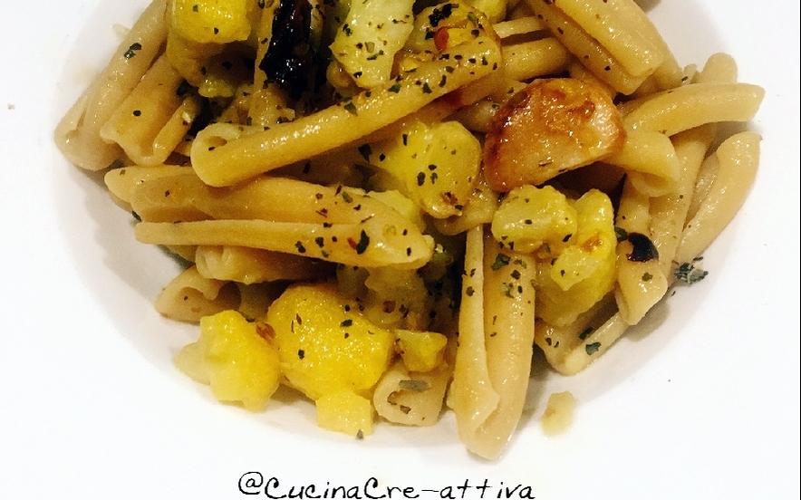 Casarecce aglio, olio, peperoncino e cavolfiore