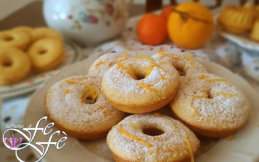 Ciambelle al miele e mandarino
