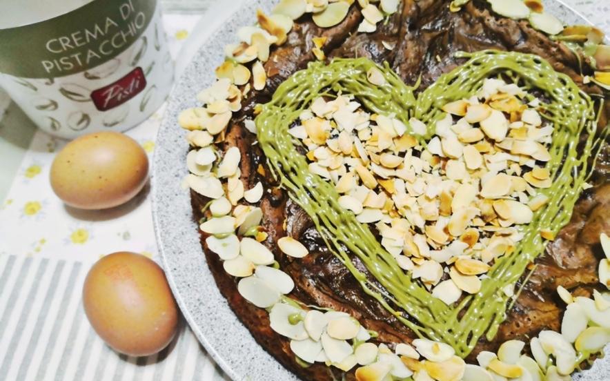 Torta cioccolato bianco e pistacchio