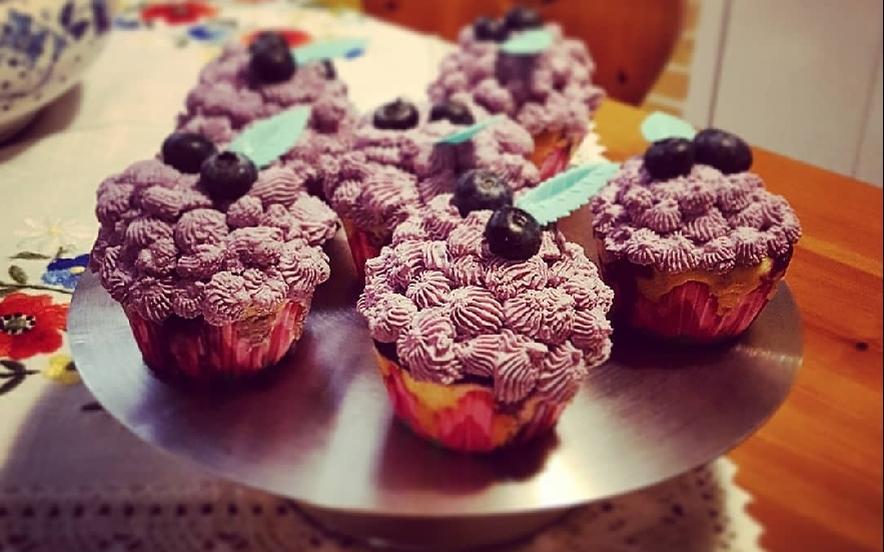 Cupcakes allo yogurt e mirtilli