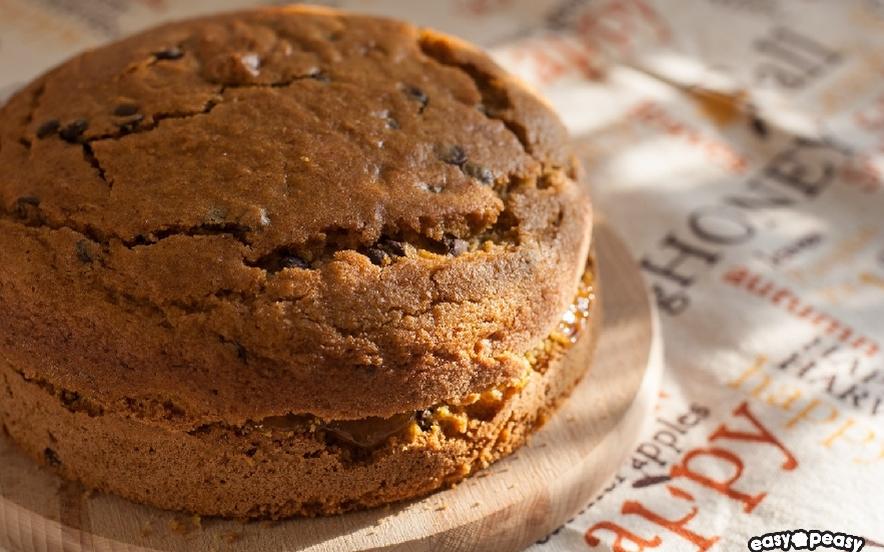 Torta zucca, castagne e cioccolato