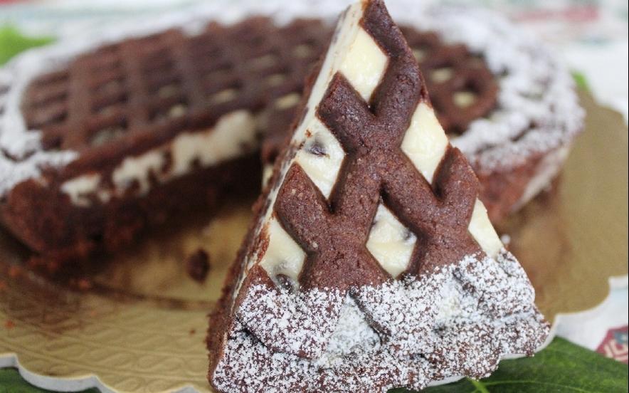 Crostata al cacao ricotta e gocce di cioccolato
